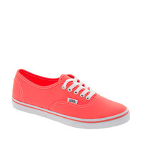 Vans | Vans Authentic Lo Pro Neon Coral Trainers at ASOS