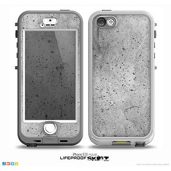 The Concrete Grunge Texture Skin for the iPhone 5-5s NUUD LifeProof Case for the LifeProof Skin