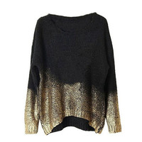 Women's Comfortable Lightweight Baggy Knited Pullover Sweater