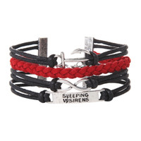 Sleeping With Sirens Anchor Infinity Bracelet
