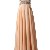 Dressystar Beaded Straps Sweetheart Bridesmaid Prom Dress with Sparkling Waist