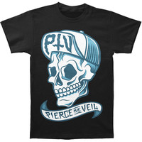 Pierce The Veil Men's  PTV Skull T-shirt Black