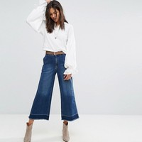 Free People Vintage A Line Cropped Flared Jeans at asos.com