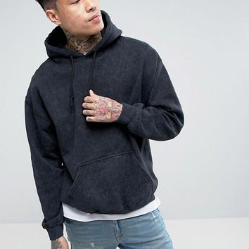Reclaimed Vintage Inspired Oversized Hoodie In Washed Black at asos.com
