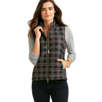Holiday Plaid Puffer Vest