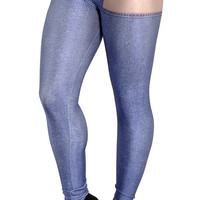Design 244 - Faux denim naked blue jeans