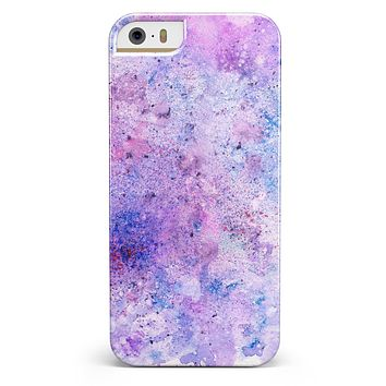 Blotted Pink and Purple Texture iPhone 5/5s or SE INK-Fuzed Case