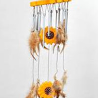 Sunflower/Feather Windchimes
