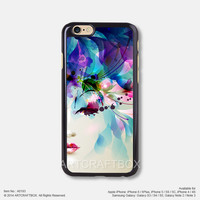 Watercolor beautiful girl Free Shipping iPhone 6 6 Plus case iPhone 5s case iPhone 5C case iPhone 4 4S case Samsung galaxy Note 2 Note 3 Note 4 S3 S4 S5 case 193