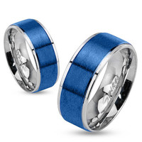 Personalize Stainless Steel Ring, Custom Mens Stainless Steel Ring, Stainless Steel Band,  R-M0026