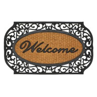 """Welcome Mat-Scrolled Border """"Welcome"""""""