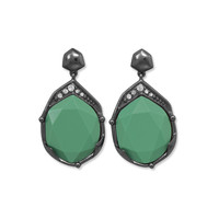 Vintage Green Acrylic Drop Fashion Earrings