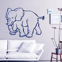 Indian Elephant Wall Decal Pet Shop Vinyl Stikers Safari Decal Dorm Art Mural Home Design Interior Wild Animals Living Room Decor KY81