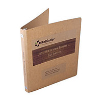 ReBinder Original Cardboard 3 Ring Binder 12 Rings 100percent Recycled Brown Kraft by Office Depot