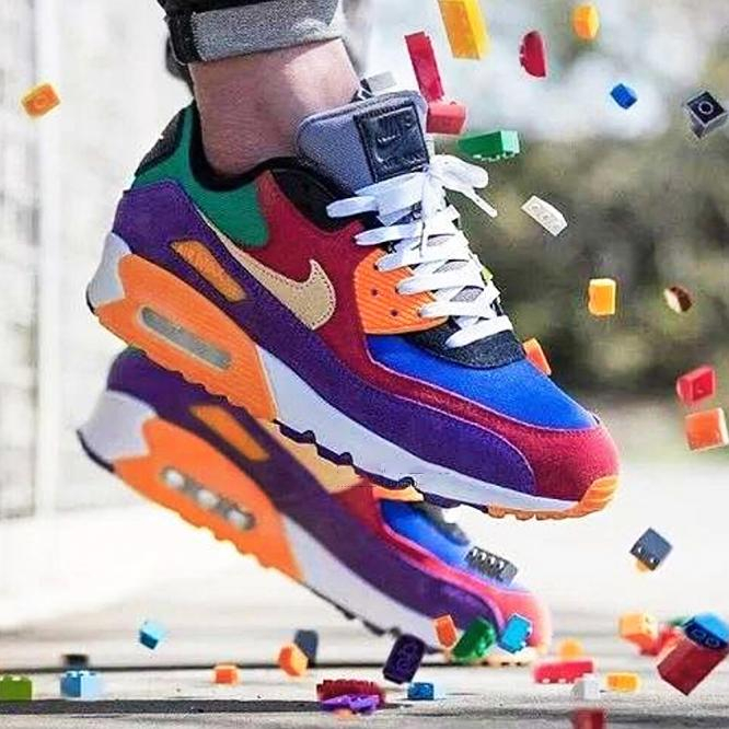 Image of Nike Air Max 90 Fashionable Women Men Classic Air Cushion Running Sport Shoes Sneakers