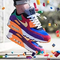 Nike Air Max 90 Fashionable Women Men Classic Air Cushion Running Sport Shoes Sneakers