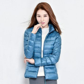 New 90% Ultralight Portable Slim Down Coat Female Winter Jacket