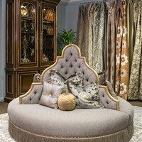 Luxury furniture at its finest. Round sofa foyer or lobby seating.