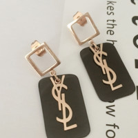 Ysl Golden shining earrings