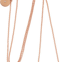 Marc by Marc Jacobs Arrow rose gold-plated necklace – 50% at THE OUTNET.COM