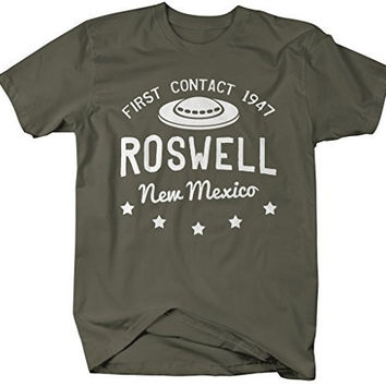Shirts By Sarah Men's Roswell New Mexico T-Shirt Alien Shirts UFO Tee