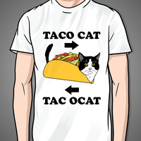 Taco Cat on a White T Shirt