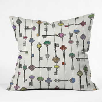 Belle13 Love Is The Key Throw Pillow