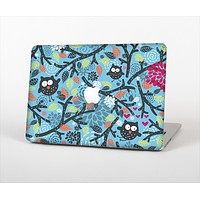 """The Blue and Black Branches with Abstract Big Eyed Owls Skin Set for the Apple MacBook Air 13"""""""