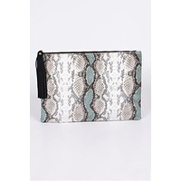 Two Tone Pouch Clutch