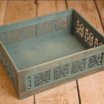 Handmade Carved Filigree Box Handmade Photography Props