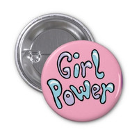 Girl Power Pin (button badge) (Pastel Feminist Punk Yas Queen)