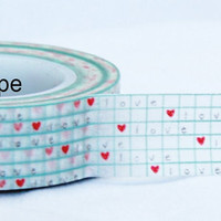 Love and Heart Washi Masking Tape Roll Adhesive Stickers WT10