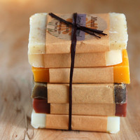 Organic Soap Sample Pack - 6 samples for travel, guests or gifts - vegan, natural and botanical