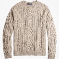 Cable Crewneck Sweater - Brooks Brothers