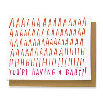 aaaaahh you're having a baby card