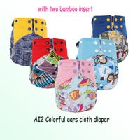 Free shipping Pororo AI2 PUL printed diaper Cover with Stay dry suede cloth inner, all in two baby reusable cloth diaper nappies