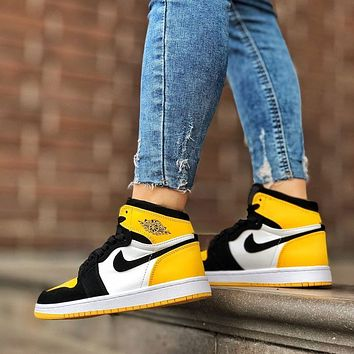 NIKE Air Jordan 1 Retro High OG AJ1 Versatile casual sports basketball shoes