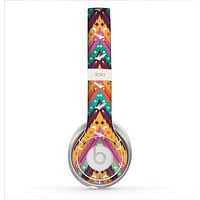 The Modern Colorful Abstract Chevron Design Skin for the Beats by Dre Solo 2 Headphones