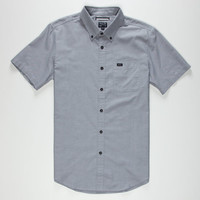 Rvca That'll Do Oxford Mens Shirt Pavement  In Sizes