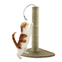 Natural Seagrass Cat Scratching Post Feather Toy Included 19-Inch '