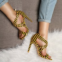 The new summer word with fish mouth stiletto high heel women sandals cross strap women shoes with open toes