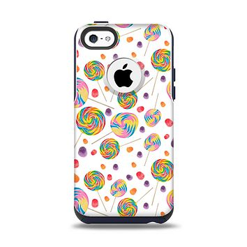 The Lollipop Candy Pattern Apple iPhone 5c Otterbox Commuter Case Skin Set