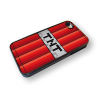 iPhone 4 or 4S full color case Minecraft TNT