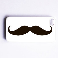 Handlebar Mustache iPhone 4 Case by onyourcasestore on Etsy