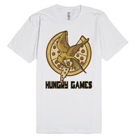 Hungry Games....Pizza-Unisex White T-Shirt
