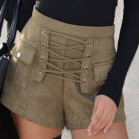 Sexy air-vent bind shorts cultivate one's morality pants  Army green