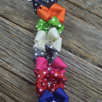 Set of 10 3.5 inch Bows by Mandy Lou {See pic for colors}
