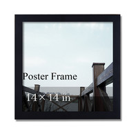 "Decorative Black Wood 1.25"" Wide Wall Hanging Poster"
