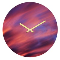 Shannon Clark Painted Sunset Round Clock