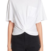 T by Alexander Wang Twist Front Jersey Tee   Nordstrom
